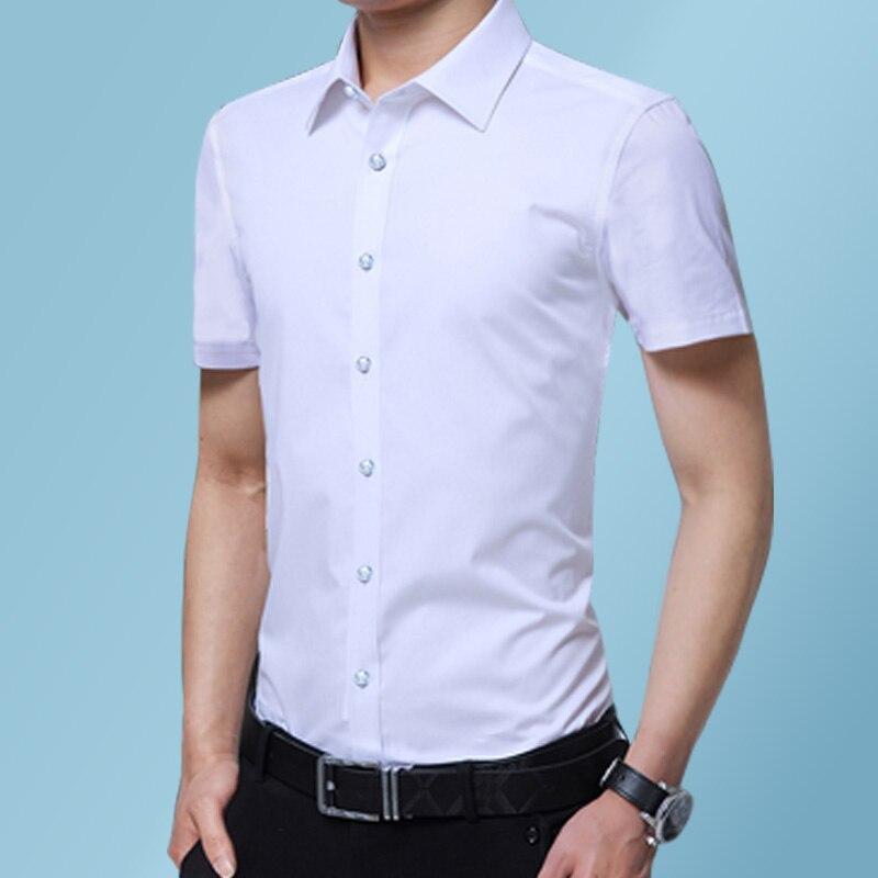 DAVYDAISY плюс размер 8xl 7xl 6xl Мужская рубашка летние рубашки с короткими рукавами мужские повседневные нежелезные рубашки Slim Fit Chemise Homme DS-262