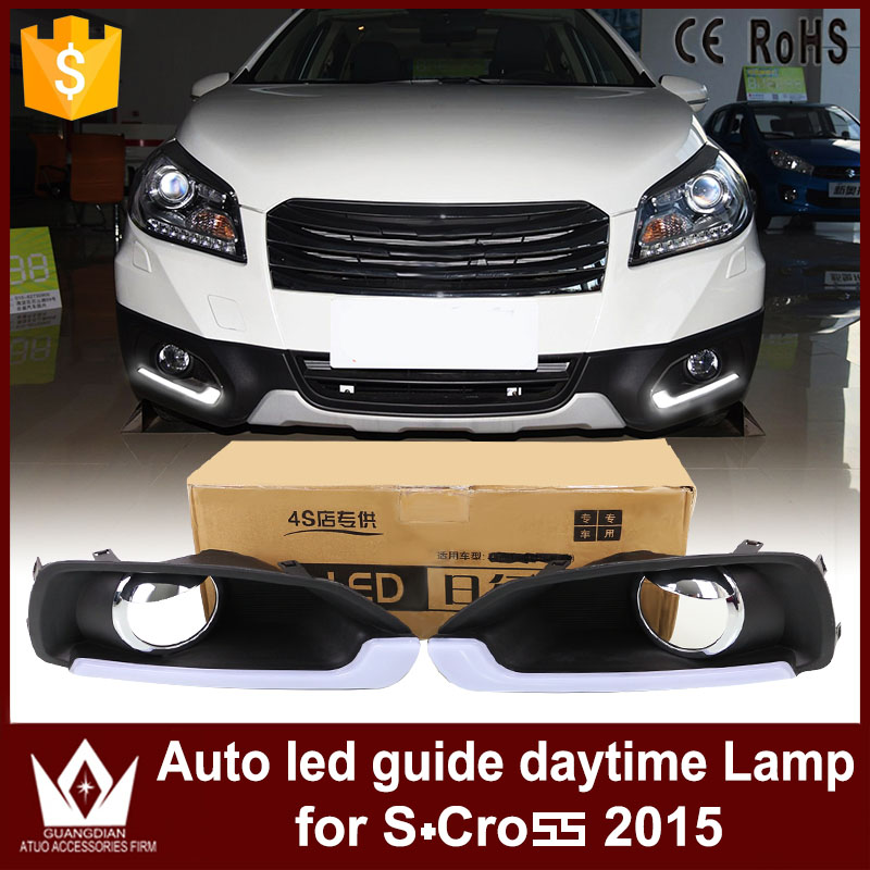 GuangDian 1 Set New Car Flashing LED DRL Daytime Running Light Daylight Kit Waterproof For Suzuki S-Cross S cross 2014 2015 2016 широкий браслет brand new 2015 s br002