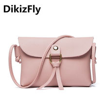 DikizFly 2018 PU Leather Women Messenger Bag bolsa feminina Mini Crossbody Bags Small Female baobao Handbags Phone Purse Bags(China)