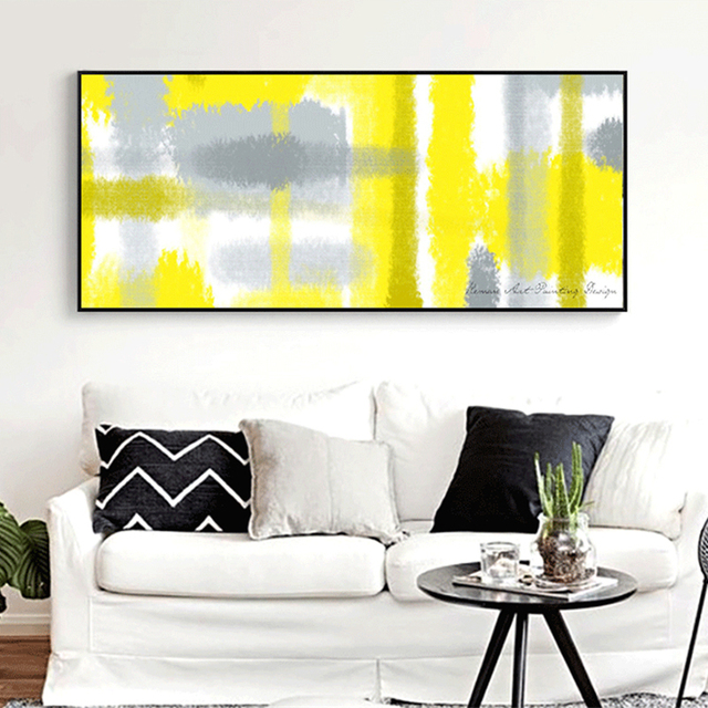 HAOCHU Large Minimalism Abstract Stripe Wall Pictures Art Poster ...