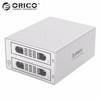 ORICO 3529RUS3 Tool Free Aluminum 2 Bay 3 5 SATA2 0 USB3 0 ESATA HDD External