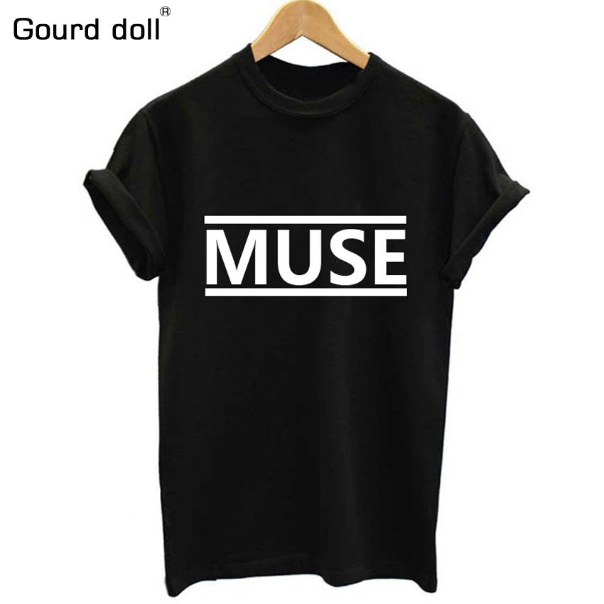 Plus S-XXL Fashion Summer TShirt Donna Lettera MUSE Printed T-Shirt Donna Top Tee Shirt Femme Nuovi arrivi Vendita calda Casual Style