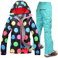 Free Shipping 2016Winter Women S Ski Suit Jackets Set Outdoor Sprot Warm Skiing Jacket And Pants
