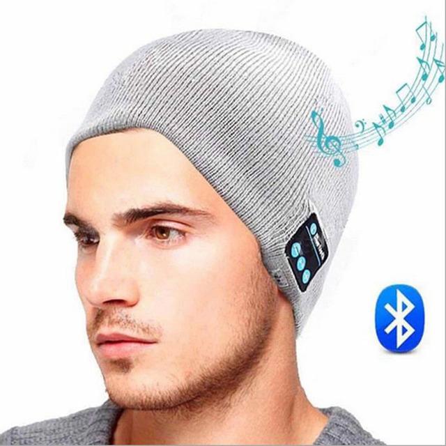 Bluetooth Gorro de Malha Chapéu Do Inverno Headset Jands-free Magia Mic Speaker Música Cap Esportes Warmhats Macio Para O Menino Menina Amp M5-1