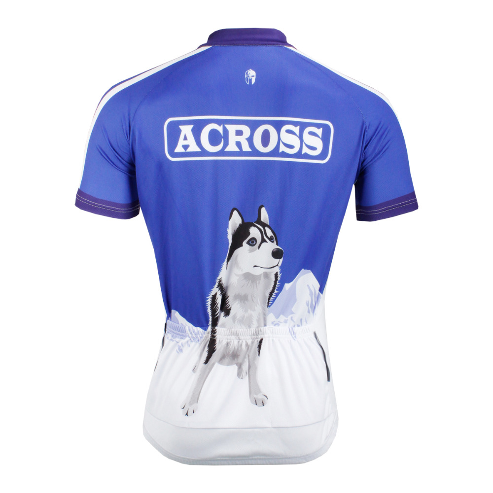 Alaska Dog Patterns Men Polyester Short Sleeve Cycling Jersey Blue Ropa  Ciclismo Breathable Bike Clothing Size S To 6XL-in Cycling Jerseys from  Sports ... 0ed918158