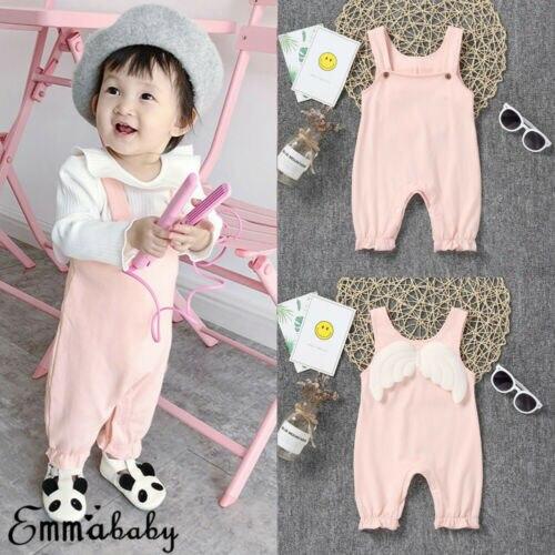 0-24 M Neugeborenen Romper Overall Insgesamt Weiß Flügel Kleinkind Baby Jungen Mädchen Outfit Kostüm Romper Kleidung Dauerhafter Service