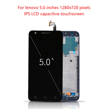 Original 5.0 Display For LENOVO Vibe C2 LCD Touch Screen Frame Digitizer Lenovo Replacement K10a40