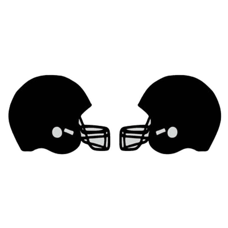 12.7cm*4.7cm Car Syling Sports Football Helmet Vinyl Car Stickers S2-0067