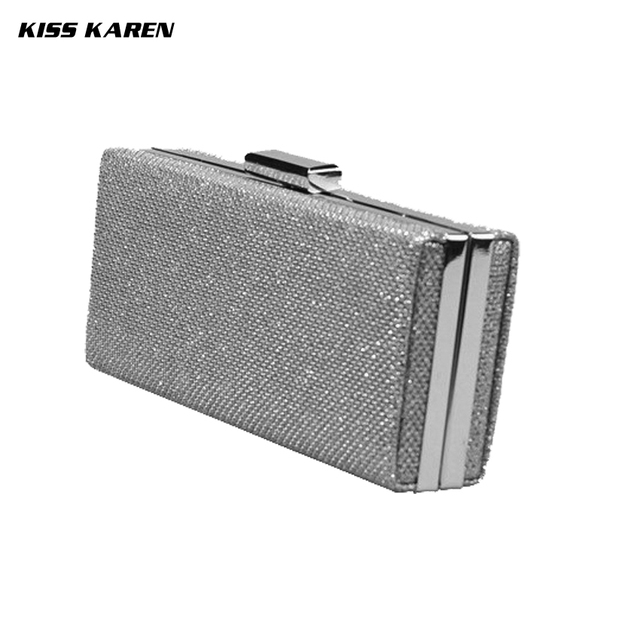 Kiss Karen Synthetic Leather Clutches Casual Womens Clutch Bag Evening Bags Party Clutch Lady Minaudiere Club Women Handbags