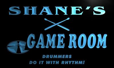 x0191-tm Shanes Drummers Game Room Custom Personalized Name Neon Sign Wholesale Dropshipping On/Off Switch 7 Colors DHL