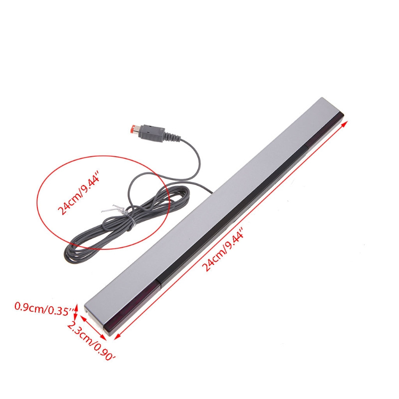 2019 High Quality New Practical Wired Sensor Receiving Bar With USB Cable For Nintendo Wii / Wii U Game Accessory Cables