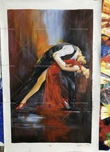 Artist Hand-painted High Quality Impression Dancer Oil Painting On Canvas Handmade Tango Dancer Dancing Picture Tango Pictures