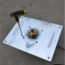 Kırpma makinesi kapak plakası oyma makinesi alüminyum Router masa ekleme plakası DIY ahşap banklar yönlendirici masa tabağı