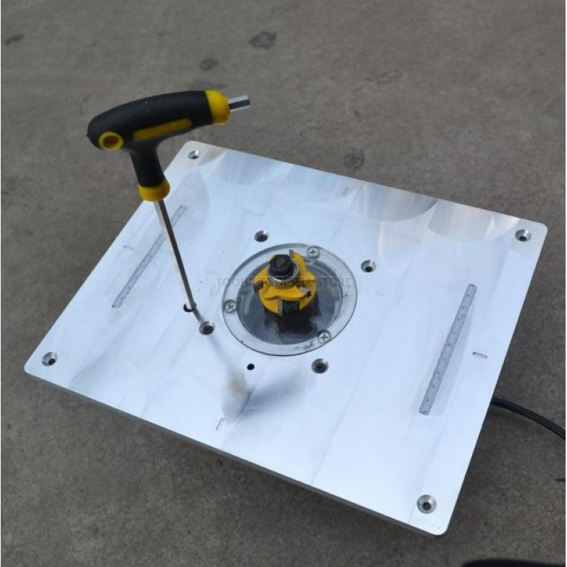 Trimming Machine Flip Plate Engraving Machine Aluminum Router Table Insert Plate DIY Woodworking Benches Router Table Plate