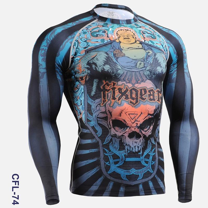 PRO Skull Print Herren Radsport Skins Kompressionsstrumpfhose Shirts - Sportbekleidung und Accessoires - Foto 3