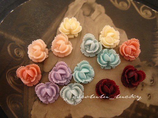 10mm resin cabochon bead flowers for jewelry/mobilephone decoration DIY Handmade Accessories 14 colors 100pcs/lot