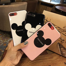 Kuutti Squishy Black Pink White Mickey Quote Phone Cases for iphone 7 TPU iphone 6 cases iphone 6s Plus Phone Cases for iphone X
