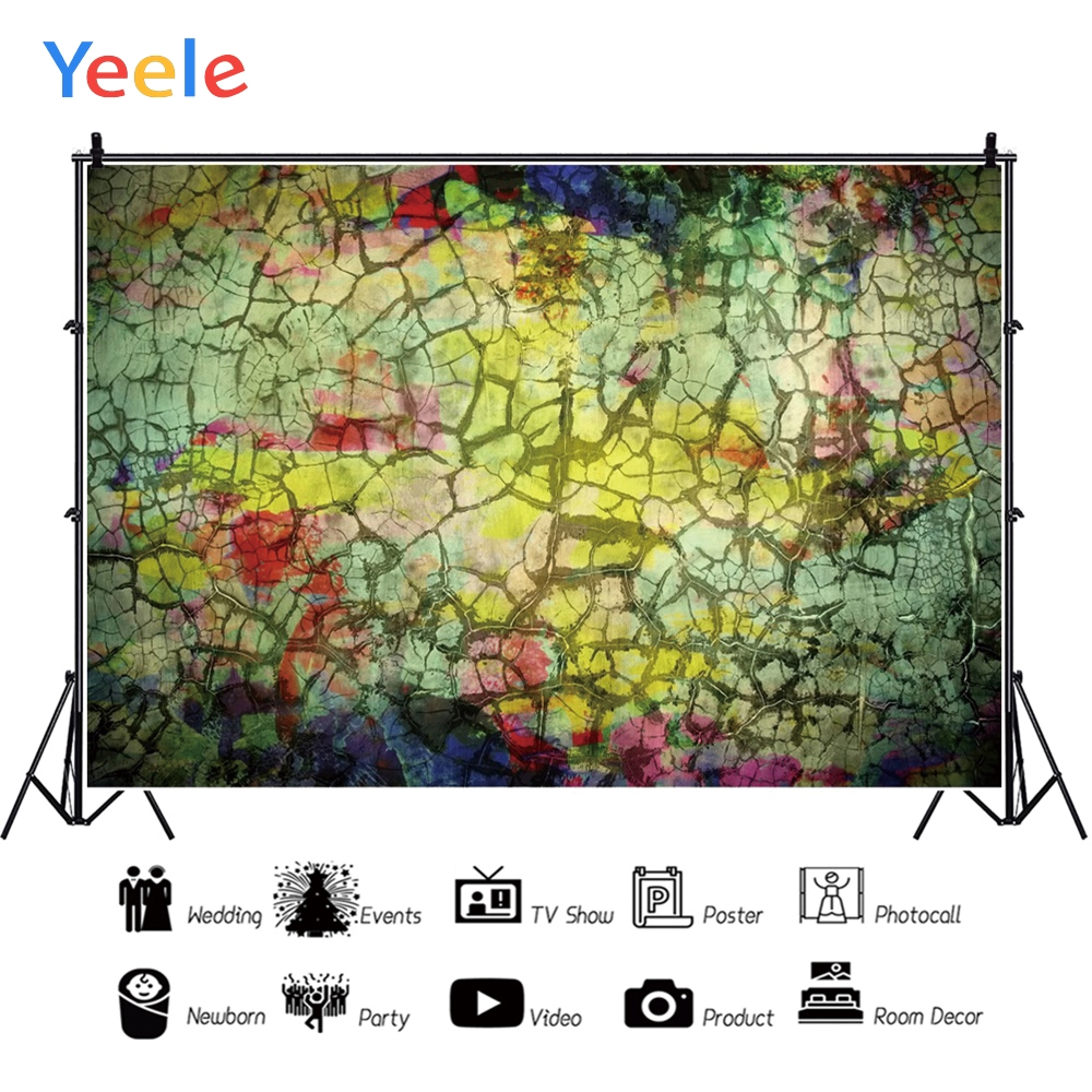 Image 2 - Yeele Grunge Retro Crack Decoration Wall Baby Personalized Party Photographic Backdrops Photography Backgrounds For Photo Studio-in Background from Consumer Electronics