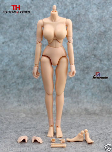 1/6 Female Body Figures Large Breast Flexible Nude Action Figure Collectible Doll Toys Fit Hot KUMIK Head Accessories