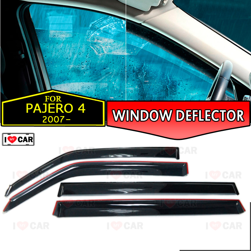 Window deflector for Mitsubishi Pajero 4 2007 car window deflector wind guard vent sun rain visor