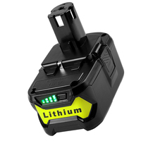 GTF Battery For Ryobi 18V 6000mAh P108 RB18L40 Lithium Ion Rechargeable Battery Pack Power Tools Battery Ryobi ONE+