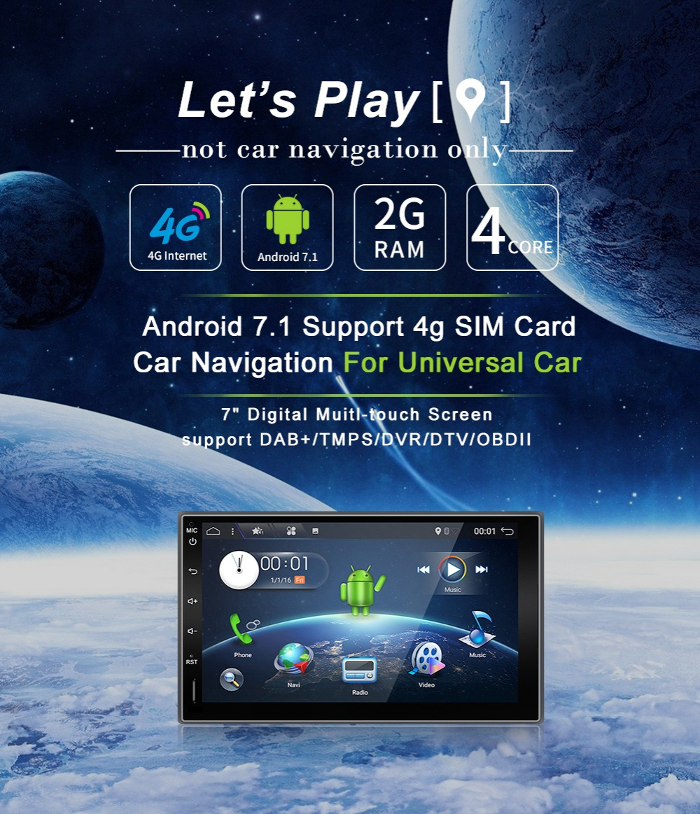 2din NO DVD car dvd HD Digital TV(optional)Car CD Navigation GPS Player Stereo SD USB In Dash Radio Media DVB t ISDB t SD Map PC-in Car Multimedia Player from Automobiles & Motorcycles    1