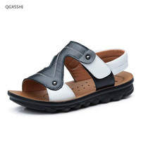 2017 Summer New Genuine Leather Children Shoes Sandals Boys Cow Leather Beach Shoes Fashion Sport