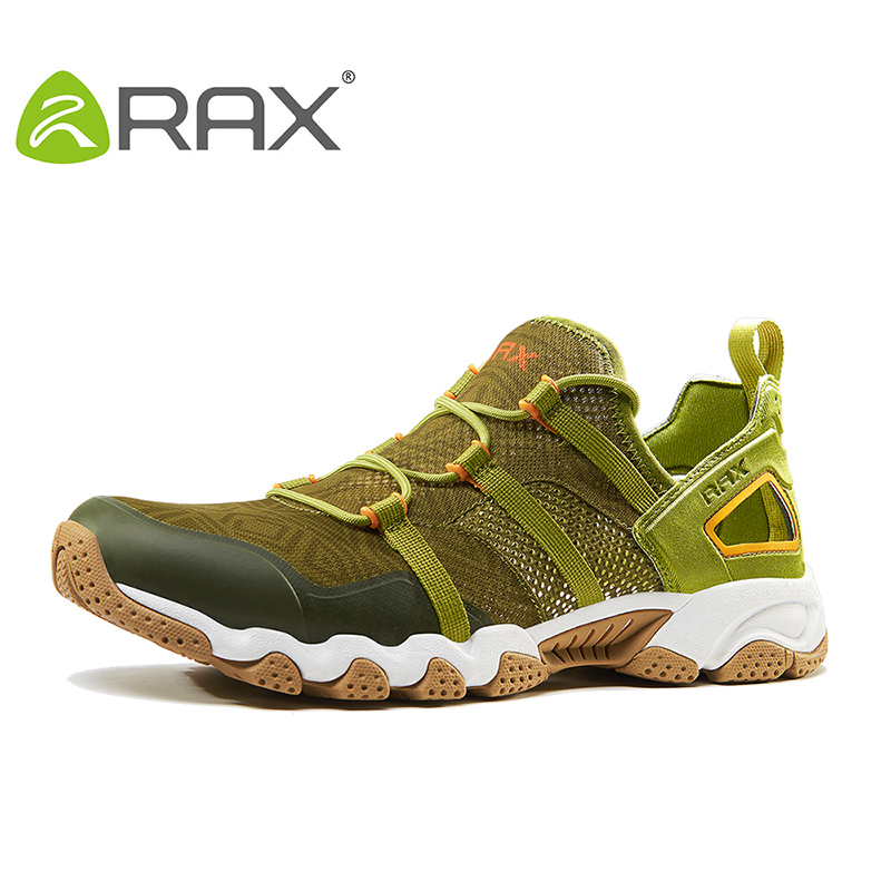 RAX New Men Women Quick Dry Aqua Shoes Non Slip Breathable Mesh Upstream Water Shoes Summer Hiking Fishing Shoes Outdoor Sports