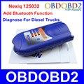 Добавить Новую Функцию Bluetooth USB Nexiq 125032 USB Link NEXIQ Диагностический инструмент Для Дизель Тяжелых Грузовиков Полный Набор Адаптеров На Складе