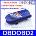 Adicionar Nova Função de Diagnóstico Nexiq 125032 USB Ligação NEXIQ USB Bluetooth ferramenta Para O Diesel de Caminhões Pesados Conjunto Completo De Adaptadores Em Estoque