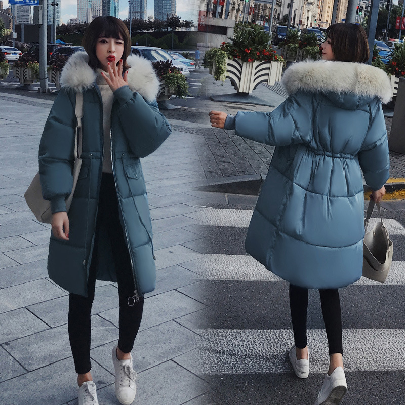 Jackets & Coats Office Lady Winter Warm Long Woman Parkas Pockets Korean Style Solid Zipper Hooded Thick Female X Long Sleeve Parkas