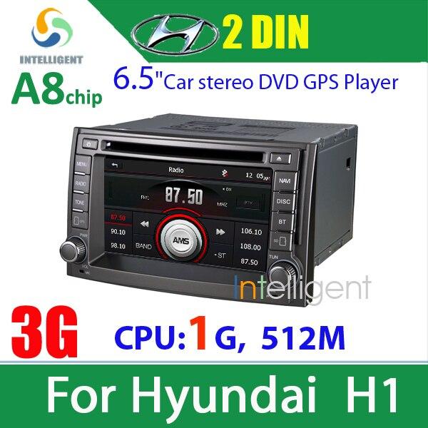 2din car dvd gps for Hyundai H1 dvd with 3G internet wifi GPS navigation Bluetooth ipod car radio stereo