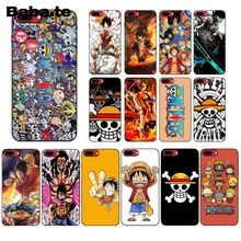 Babaite Anime One Piece  Newly Arrived Black Cell Phone Case for iPhone 8 7 6 6S Plus 5 5S SE XR X XS MAX Coque Shell