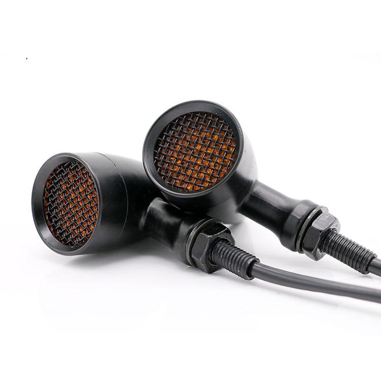 Motorcycle Mesh Lens Turn Signal Light 20 LED Turn Signals Indicators Universal Blinkers Flashers for Harley Honda Yamaha