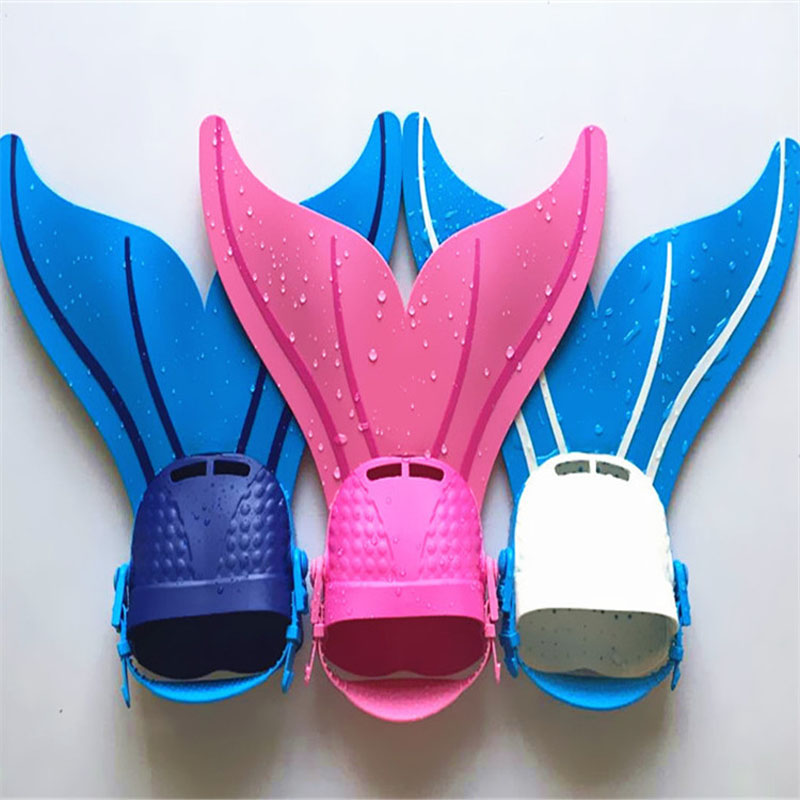 Plastic Mermaid's Tail Diving Training Flippers Toys For Kids Swimming Frog Shoes For Children Funny Pool Water Toy Boy Girl Toy