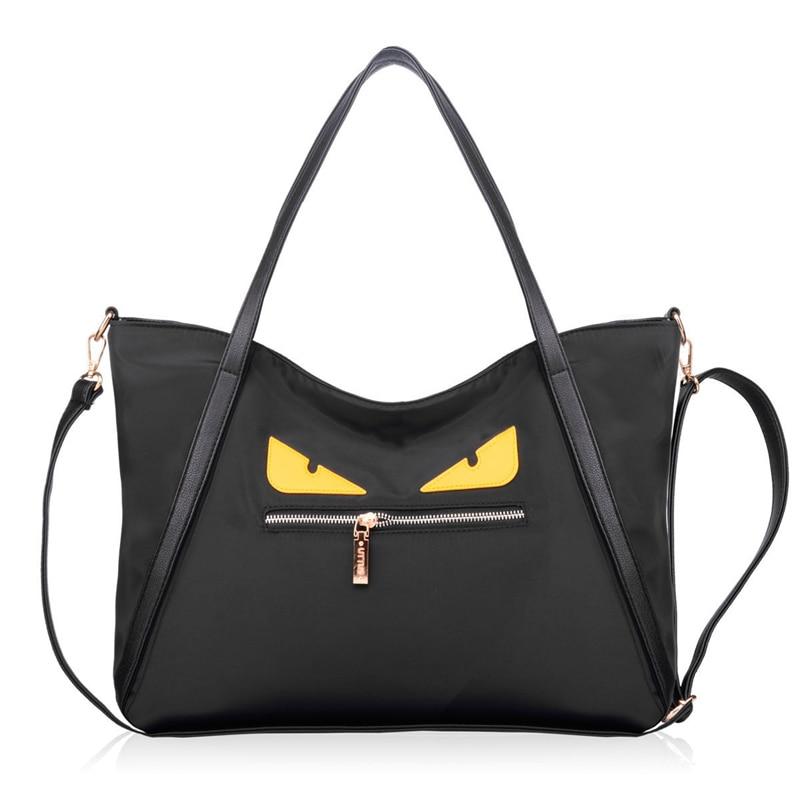 Little Monster Hand Bag Women Korean Style Fashion Nylon font b Handbag b font Lady Large