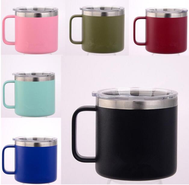 14oz Coffee Mugs Kids Milk Cup Stainless Steel Double Wall ...
