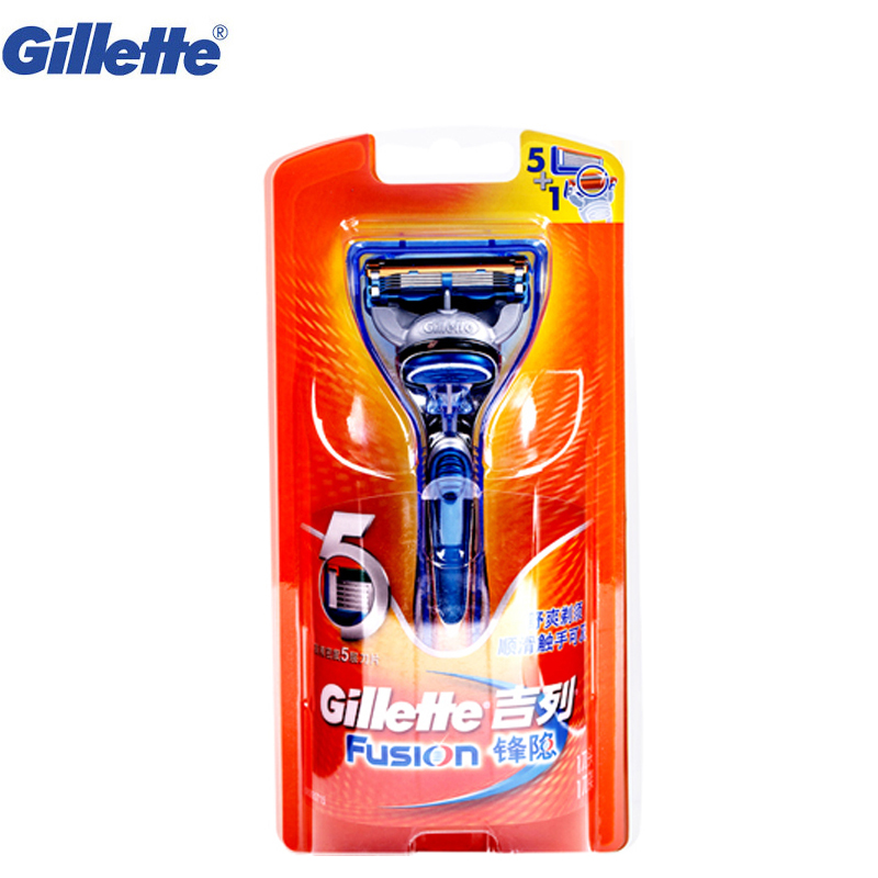 Safety Razor original Gillette Fusion beard shaver razor for Man Straight Shaving Razor Shaving <font><b>Blades</b></font> 1 razor handle 1 <font><b>blade</b></font>