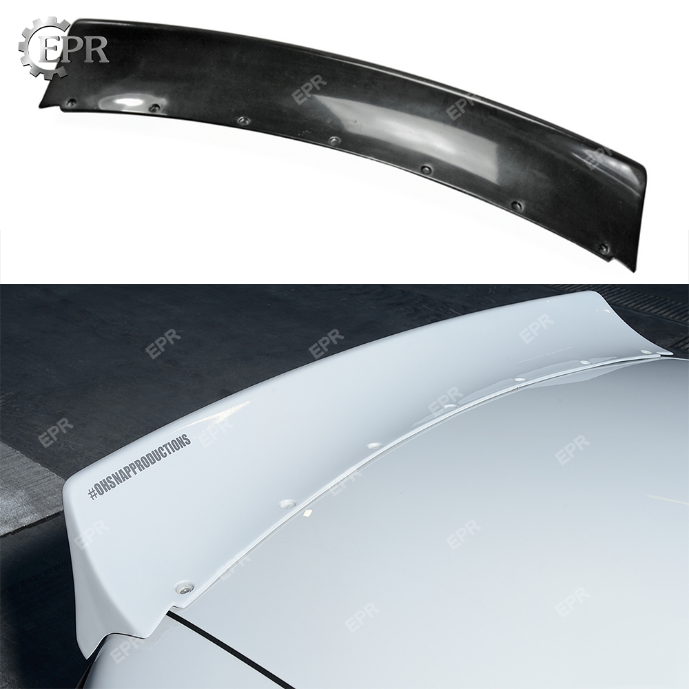 For <font><b>Mazda</b></font> MX5 <font><b>NA</b></font> Miata Roadster (1989-1997) R Bunny Wide Body FRP Glass Fiber Rear Spoiler For Miata Fiberglass Trunk Lip Wing image