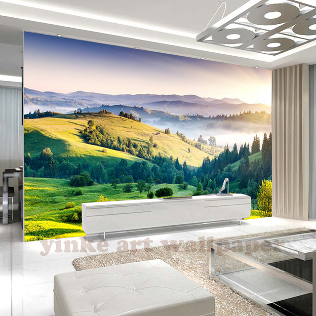 Custom 3d Photo Wallpaper Room Mural Mountain Peak Landscape Living