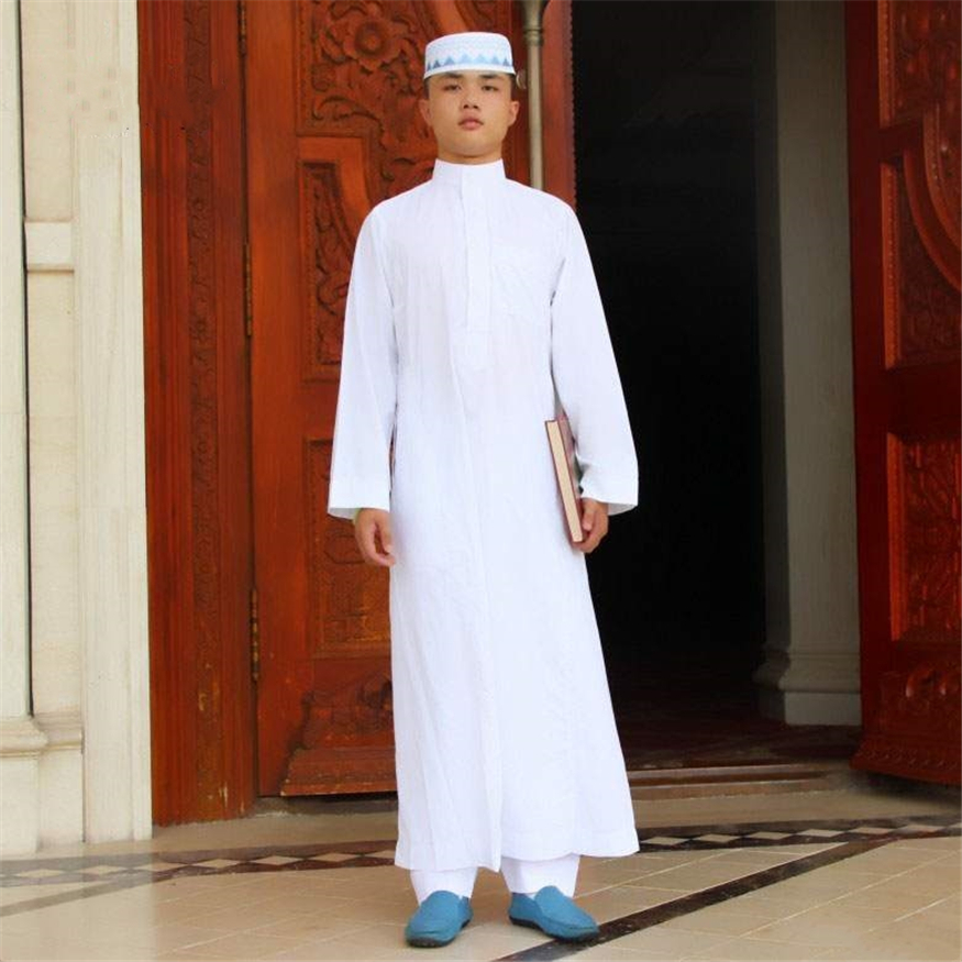 Muslim Men Islamic Clothing Saudi Arabia Jubba Thob Arabic Dubai Travel Islam Traditional Clothing Male Maxi Long Robes Clothes