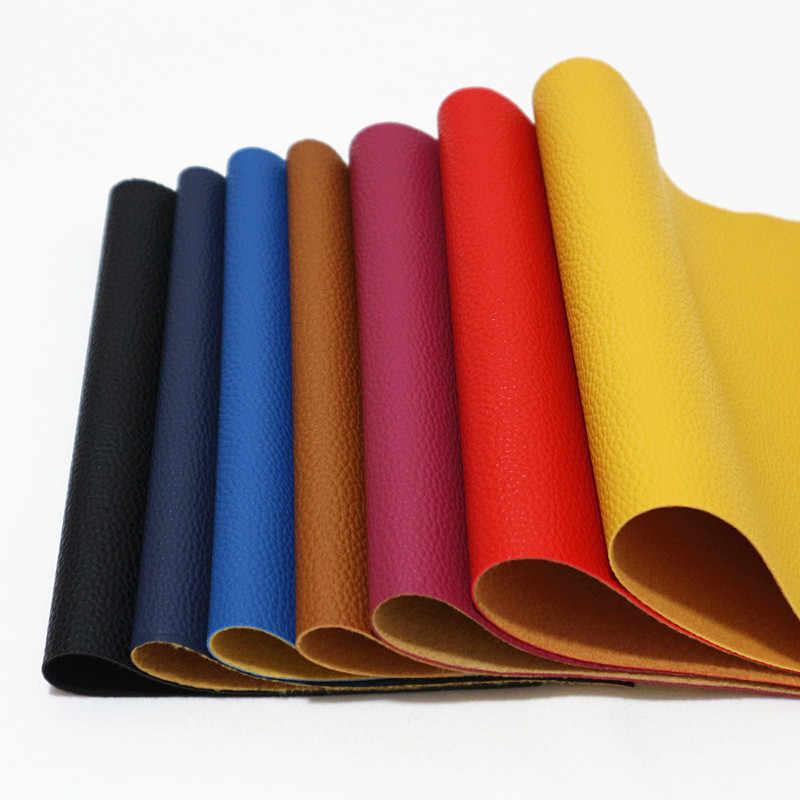 21*29 cm A4 tamanho 1.0 MM Thicknesss Grande Lichia Couro PU Lichee PU Couro Do Falso Tecido DIY artesanato