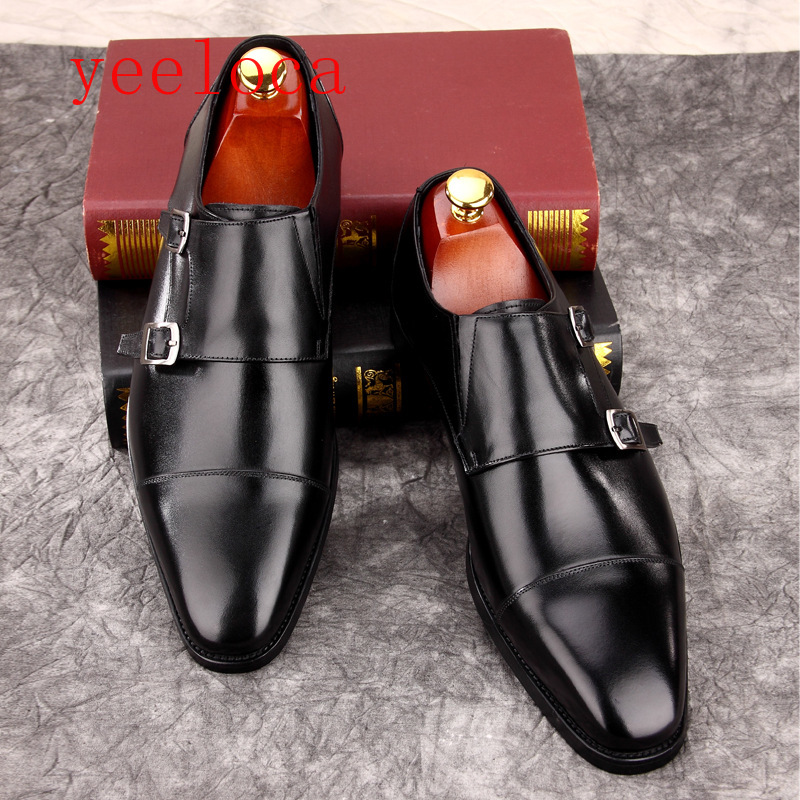 Men's Shoes Amicable Yeeloca Mens Dress Shoes Leather Oxford Mens 2019 Dress Wedding Leather Fashion Mengke Square Head Shoes Aromatic Flavor Formal Shoes