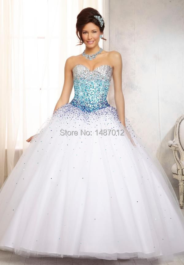 Aliexpress.com : Buy Free Shipping quinceanera dress 2015 white ...