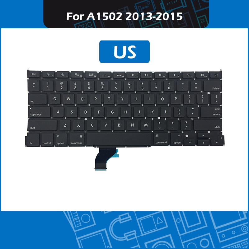 10pcs/Lot A1502 Replacement keyboard US Layout for Macbook Pro Retina 13 A1502 2013 2014 2015 EMC 2678 2875 2835 image