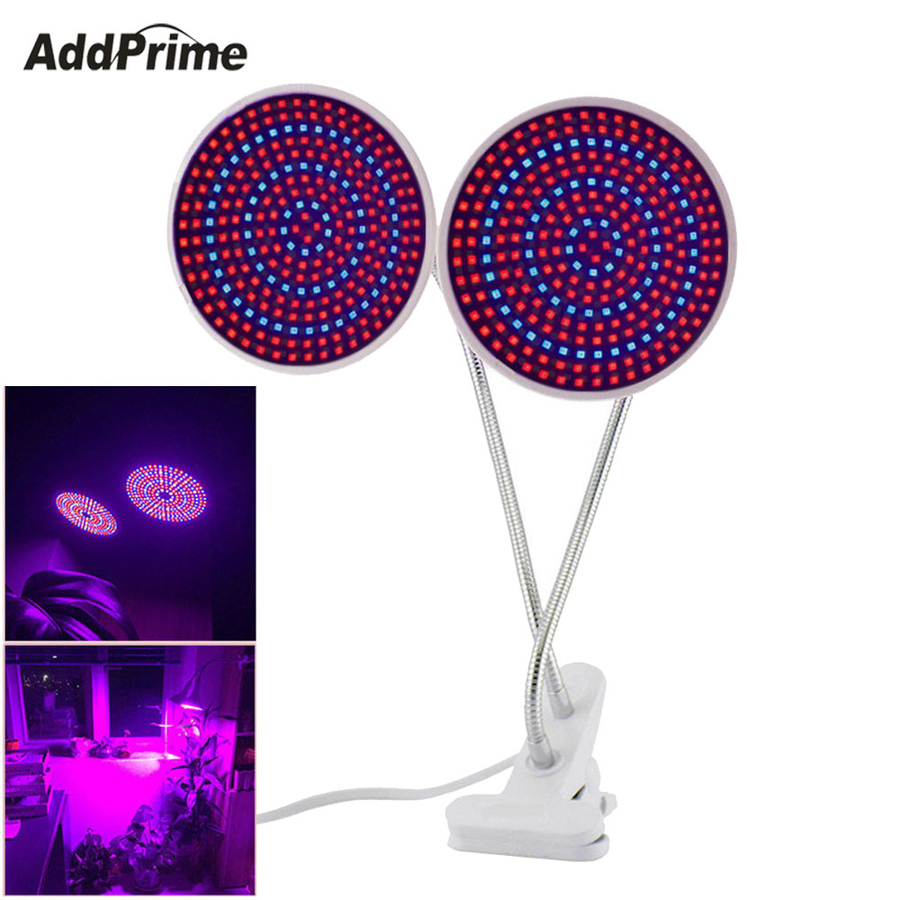 Dual 260 LED Lights Growing Plants Lamps For Seedling Grow 26W E27 LED Grow Light Lamp For Indoor Greenhouse Hydroponics Plants