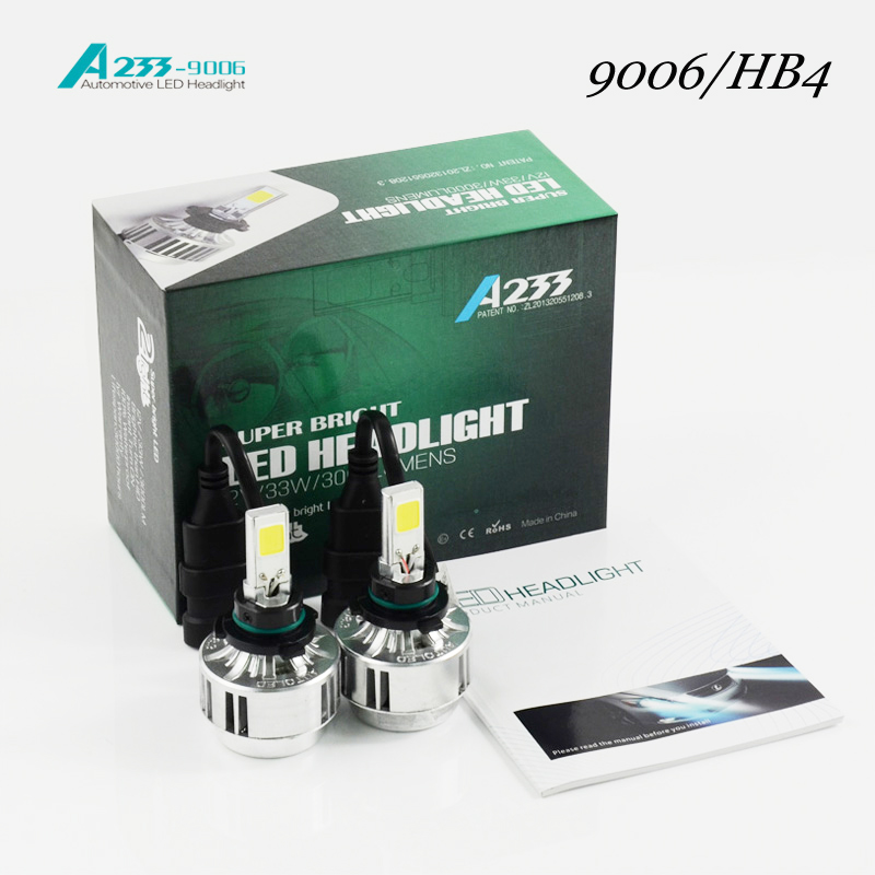 ФОТО 2016 External Lights Car Headlight Hb4/9006 H7/h8 / H9 H11/ Hb3 /9005 H1 Bulb Before Auto 66 W/ 6000lm Flagship Cars6000k 4300k