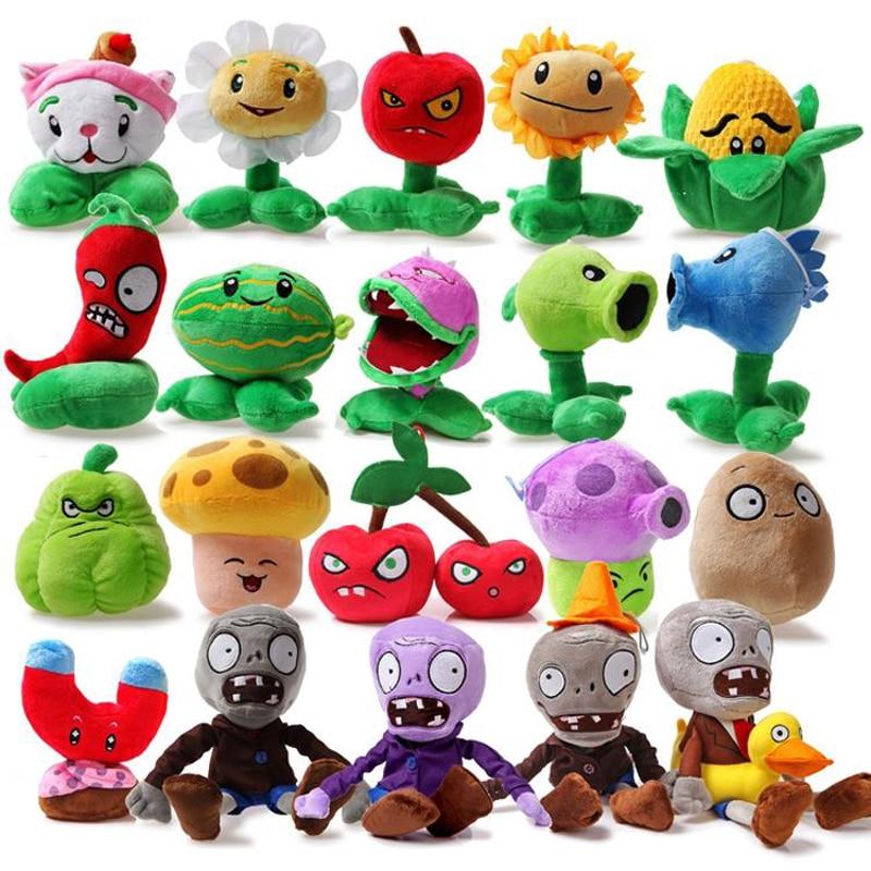 24 pzas/unids/lote plantas vs Zombies juguetes de peluche plantas PVZ vs Zombies plantas y Zombies muñeca de peluche para niños regalos del partido Juguetes-in Plantas de peluche y felpa from Juguetes y pasatiempos    2