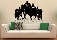 Superheroes Decal Super Hero Man Vinyl Stickers Comics Interior Home Nursery Children Room Design Wall Art