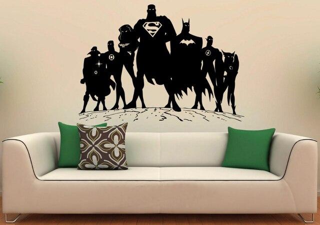 Murales Per Interni Casa.Supereroi Decal Super Hero Man Adesivi In Vinile Comics Interni Casa